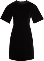 Maison Margiela Short-sleeved velvet mini dress