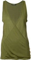 Balmain wrap front vest top - women - Cotton/Viscose - 36