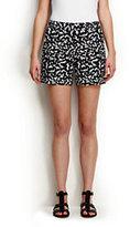 "Classic Women's Not-Too-Low Rise 5"" Chino Shorts-Plum Purple Gingham"
