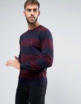 French Connection Crew Neck Wide Striped Knitted Sweater