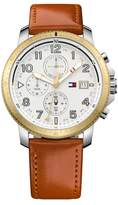 Tommy Hilfiger Men's Travis Leather Watch, 45.75mm
