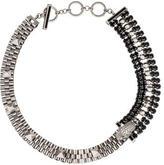 Iosselliani Crystal Cheetah Head Chain Necklace