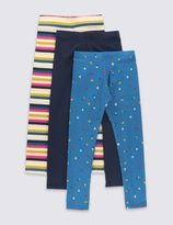 Marks and Spencer 3 Pack Leggings with StayNEWTM (1-7 Years)