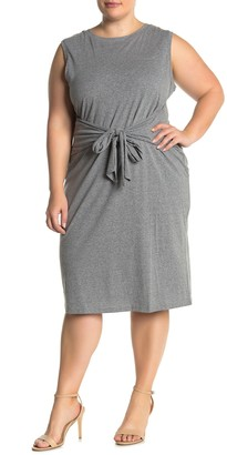 Susina Sleeveless Waist Tie Knit Midi Dress (Plus Size)