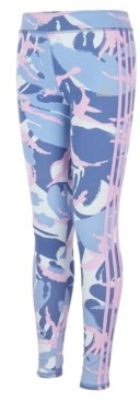 adidas Big Girls All Over Print 3 Stripe Tight Pants