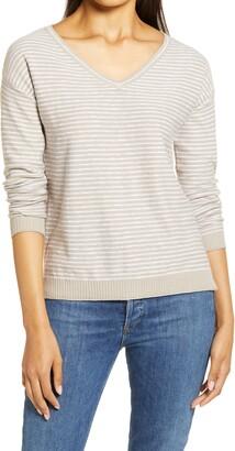 Caslon V-Neck Slub Sweater