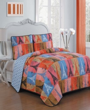 Geneva Home Fashion Cannes 3 Pc King Quilt Set