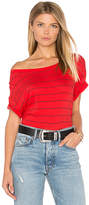 Sundry Stripes Slub Loose Tee in Red. - size 0 / XS (also in )