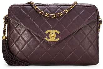 Chanel Burgundy Quilted Lambskin Envelope Camera Bag Extra Large