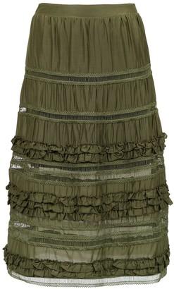 Olympiah Belvedere silk skirt