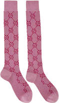 Gucci Pink Crystal GG Socks