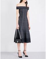 Alexander Mcqueen Off-the-shoulder Lace-knit Dress