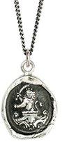 Pyrrha Men's 925 Sterling Silver Lion and Sword Talisman Necklace