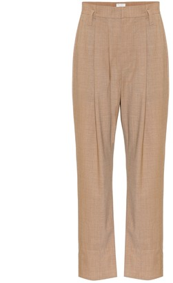 Brunello Cucinelli Stretch-wool high-rise pants