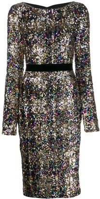 Talbot Runhof Lorena sequined midi dress