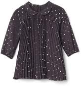 Shiny heart pleat dress