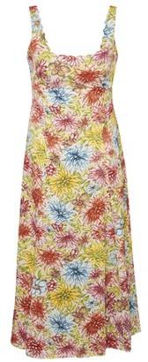 ALEXACHUNG Flower print long dress