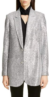 St. John Sequin Knit Statement Jacket