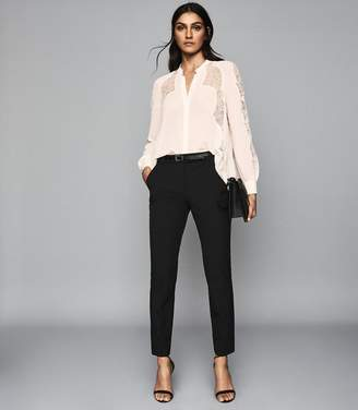 Reiss Joanne - Cropped Tailored Trousers in Black