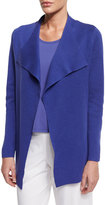 Eileen Fisher Open Interlock Jacket, Iris
