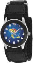 Game Time Rookie Series Kansas Jayhawks Silver Tone Watch - COL-ROB-KAN - Kids