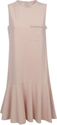 Brunello Cucinelli Round Neck Sleeveless Dress