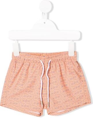 Knot Batik Squares swim shorts