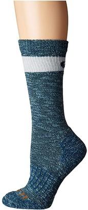 Carhartt Merino Wool Blend Slub Hiker Crew Socks 1-Pair Pack (Medium Blue) Women's Crew Cut Socks Shoes