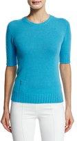 Agnona Cashmere Sweater W/Lipstick Pocket, Turquoise