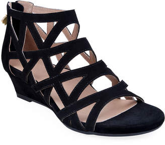 Bettye Muller Concept Sashi Suede Caged Wedge Sandals