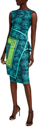 Chiara Boni Printed Flap-Waist Sleeveless Dress