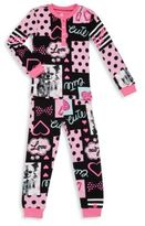 Petit Lem Little Girl's & Girl's Two-Piece Printed Top & Pants Set