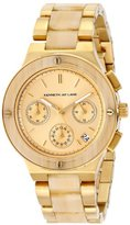Kenneth Jay Lane Women's 2141 2100 Series Gold Ion-Plated and Horn Resin Bracelet Watch