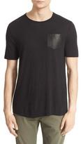 The Kooples Leather Pocket T-Shirt