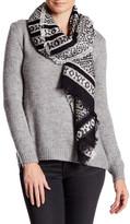 Collection XIIX Geo Motif Boucle Knit Wrap