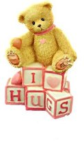 "Cherished Teddies ""I Love Hugs"" Bear with Love Letters Mini Figurine"