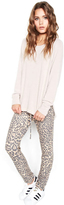Michael Lauren Bear Classic Sweatpant in Tan Leopard