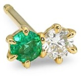 Ila Duo 14K Yellow Gold, Emerald & Diamond Single Earring