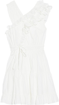 Ulla Johnson Iliana Wrap-effect Ruffled Cotton-poplin Mini Dress