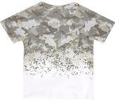 River Island Mini boys khaki camo T-shirt