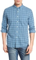 Grayers Men's Bluestone Plaid Poplin Sport Shirt