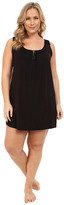 Midnight by Carole Hochman Plus Size Modal Chemise with Satin