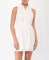 Collared Eyelet Dress