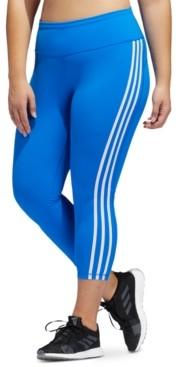 adidas Plus Size Believe This 3-Stripe High-Rise Leggings