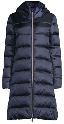 Save The Duck Icons Iris Extra-Long Quilted Hooded Coat