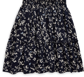Ralph Lauren Floral Tiered Cotton Skirt