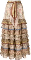 Zimmermann tiered paisley print skirt