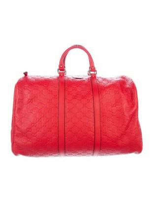 Gucci Large Signature Duffle Bag gold