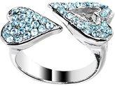 Body Candy Brilliant Blue Heartbreaker Heart Adjustable Ring