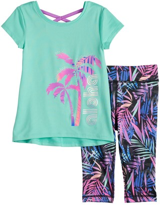 Toddler Girl Jumping Beans Cross-Back Tee & Leggings Set